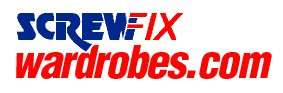 50% off fitted wardrobes @screwfixwardrobes