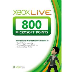 800 XBOX Live points for £4.75 Delivered @ TESCO