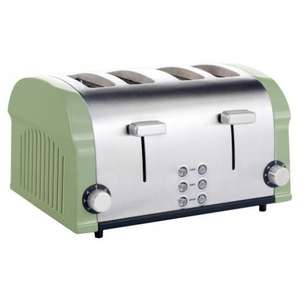 Sainsburys Kitchen Collection Stainless Steel 4-slice Toaster Sage £15.99 (was £39.99)