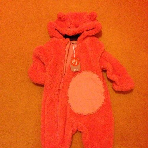 Baby Girls Pink Hooded Snowsuit £6.00 @ Sainsburys instore