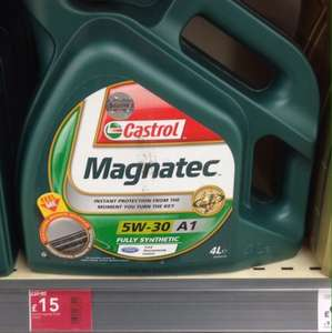 Castrol motor oil fully synthetic 5w-30 4L £15 @ wilkinsons