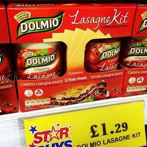 Dolmio Lasagne Kit - Only £1.29 at Home Bargains