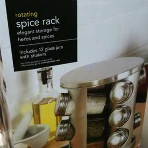 Rotating spice rack with 12 jars £6 was £12 instore @ ASDA