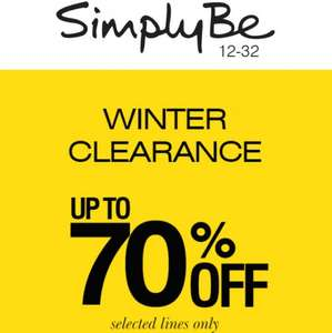 Simply Be up to 70% off