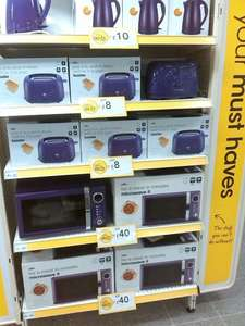 Various Purple Kichen Appliances Reduced eg Toaster £8 @ Wilkinson (instore)