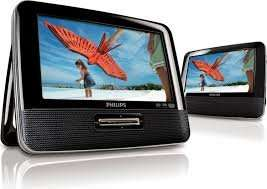 "Philips PD7022 Twin 7"" In car portable DVD player @ Sainsburys & online £69.99"