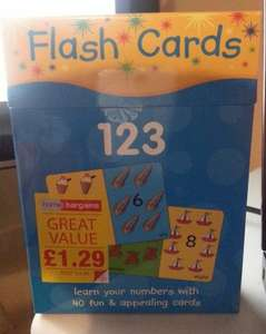 Flash Cards £1.29 (rrp £4.99), 40 cards per pack at Home bargains in-store