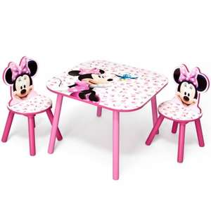 Minnie Mouse table and chairs £24.99 @ Home Bargains