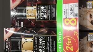 ASDA - L'Oréal Paris - Preference Mousse Absolute (Re-usable permanent hair colour) 2 for £8