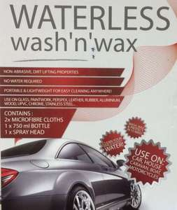 Waterless Wash & Wax £5.99 @ Home Bargains
