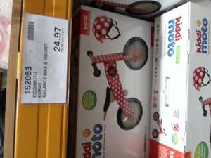 Kiddimoto curve balance bike with helmet 29.96 @ Costco