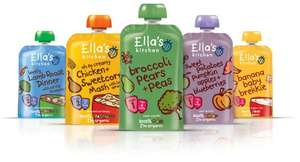 Baby food 50% off @ Amazon e.g. 12 Ella's kitchen smoothies £6.60 + add on /p&p