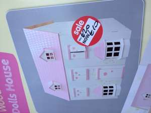 Wooden dolls house £10 at Asda