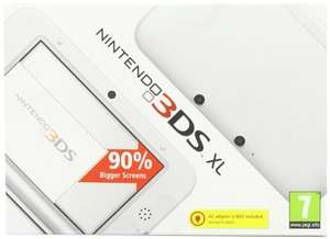 Nintendo 3DS XL White  £134.99 New/ £119.99 Used @ Gamescentre