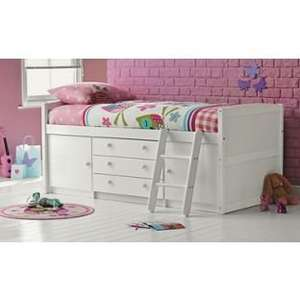 Tori Single Mid Sleeper Bed Frame - White £187.49 Homebase