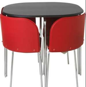 Hygena Amparo Black Dining Table and 4 Red Chairs. 144/7569   (1 Reviews)  Less Than Half Price £99.99   was £249.99  (5 styles available) @ argos