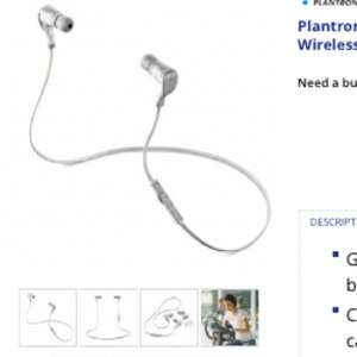 SKU - 89200-05 Plantronics BackBeat GO Bluetooth Wireless Earbuds £39.99 @ 7DayShop