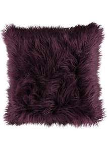 Matalan Faux Mongolian Cushion (48cm X 48cm)  Now £4.00