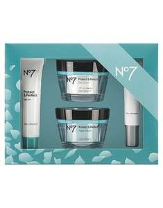 No7 Skincare Protect & Perfect/ P&P Intense/ Lift & Luminate/ Restore & Renew Bundles only £43 and 3 for 2 @ Boots