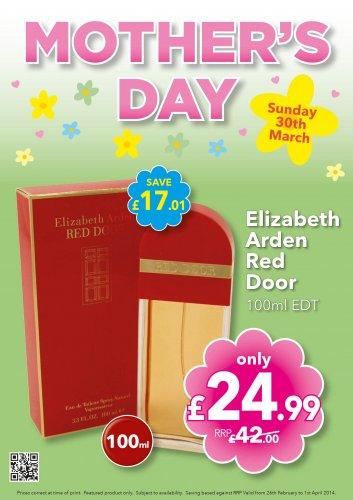 Elizabeth Arden Red Door 100ml EDT at Savers INSTORE £24.99 @ Savers