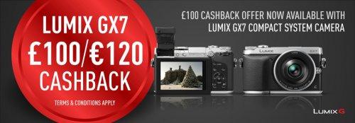 Panasonic GX7 - £100 cashback