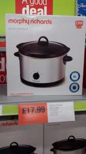 Morphy Richards slow cooker 17.99 in store in Co-op.