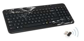 Logitech K360 Black Wireless Keyboard with Coral Fan Design £9.99 @ ebuyer