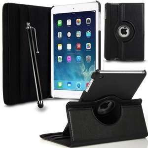 Apple iPad Mini Black Leather Rotating Case with Stylus & Screen Protector 99p @ Amazon fulfilled by GB Online Sales