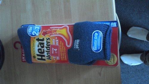 heat holders socks £4 each in store tesco and online