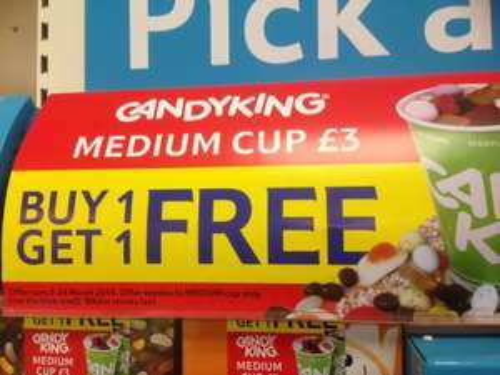BOGOF Pick 'n' Mix at Tesco - Medium Cup - £3
