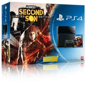 Playstation 4 inFamous Second Son Bundle £375 with code @ Tesco Direct