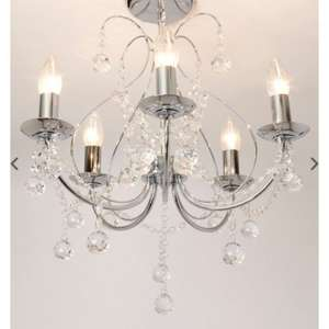 Sapparia 5 light flush chandelier £48 del BHS (with codes) was £120
