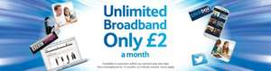 Tesco-broadband unlimited £2 when you take the Phone line