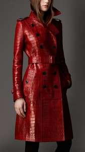 Burberry Long Alligator Leather Trench Coat £79000.00