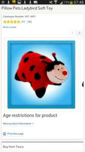 Pillow Pets Ladybird Soft Toy £6.50 @ tesco direct