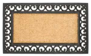 William Armes Wrought Iron Effect Mat With Coir, 75 x 45cm £5.50 @ Amazon (£5.50 with Prime / £10+ spend / Locker delivery)