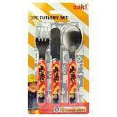 Fireman Sam Cutlery set, £1.88, Tesco + Free click and collect.