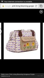 Pink lining blooming gorgeous purple Dragonflies changing bag £37 RRP £79 @ preciouslittleone