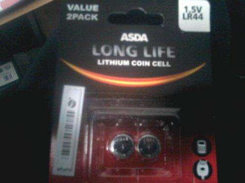 asda 2 pack LR44 batteries 2p.@ Asda
