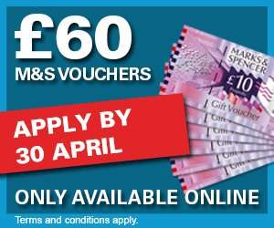 Legal & General - £60 M&S Voucher for £18 Life Insurance