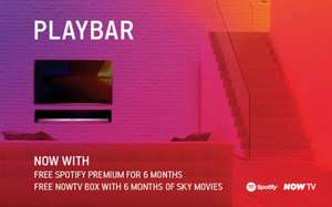 Sonos Playbar - With 6 Months Spotify  Premimum + NowTv - £599.99 @ Sonos
