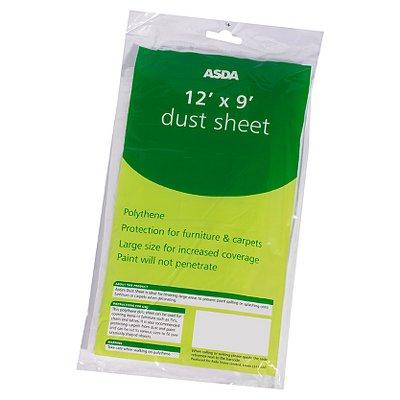 ASDA Dust Sheet- 12 x 9ft - 50p @ ASDA Direct