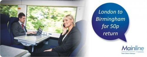 chiltern mainline - 50p return tickets to birmingham from london