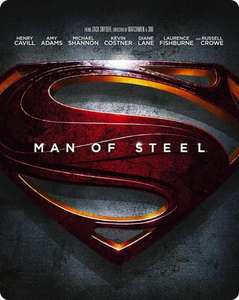 Man of Steel - Limited Edition Steelbook [Blu-ray 3D + Blu-ray + UV Copy] £14.99 Instore @ HMV