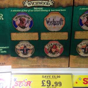 Bargain Beers! 12 bottles of Wychwood Ales for £9.99 @ Home Bargains