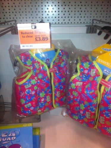 Speedo babies/child swim vest £3.89 @ Sainsburys