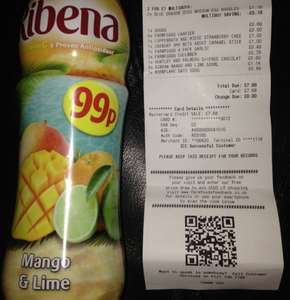 Ribena mango and lime reduced from 99p to 19p @ Farmfoods