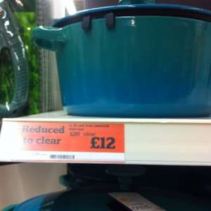 5litre round cast iron ware casserole dish teal £12 @ Sainsburys instore