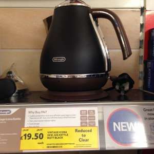 DeLonghi Icona Vintage Matt Black Kettle £19.50 @ Tesco extra Solihull