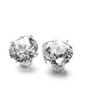 925 Sterling Silver Stud Earrings set with Swarovski Crystal Stones. Gift Box Add-on @ Amazon